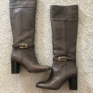 Gray Tory Burch tall boot